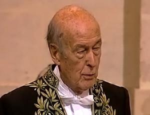 Valéry Giscard D'Estaing à l'Académie Française partie 1